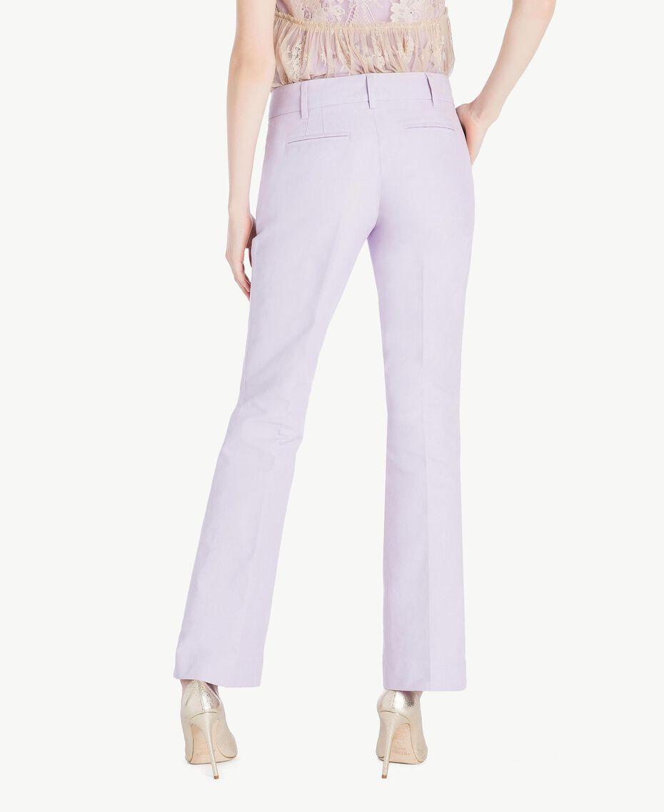 Canvas trousers Violet Woman PS824S-03