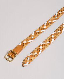 Mehrfarbiger Ledergürtel Multicolour Leder Frau 191TO5334-02