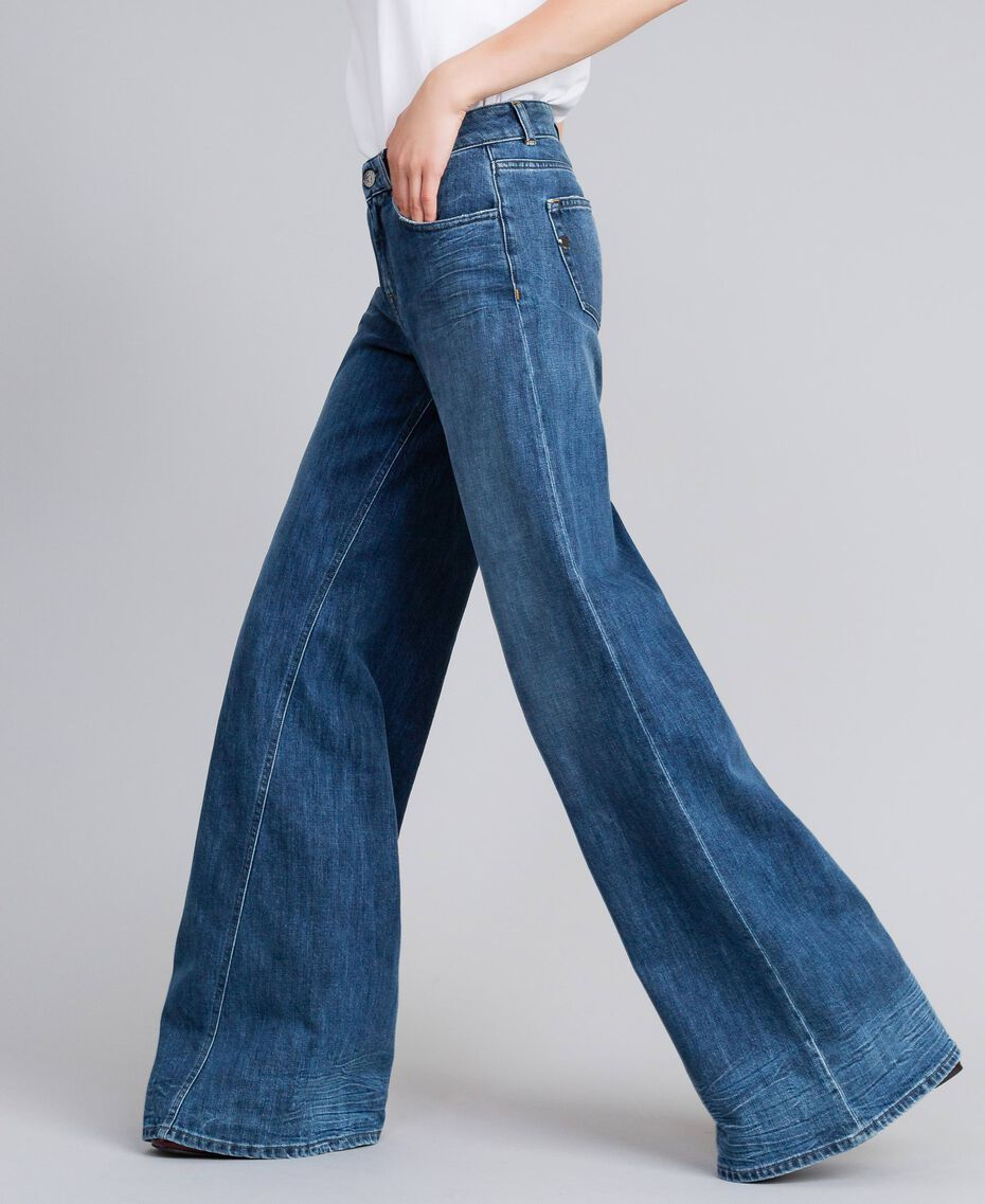 Wide-Leg-Jeans aus Denim Denimblau Frau JA82Q4-02