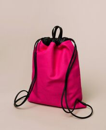 Canvas sackpack with logo Black Woman 201TO8101-04