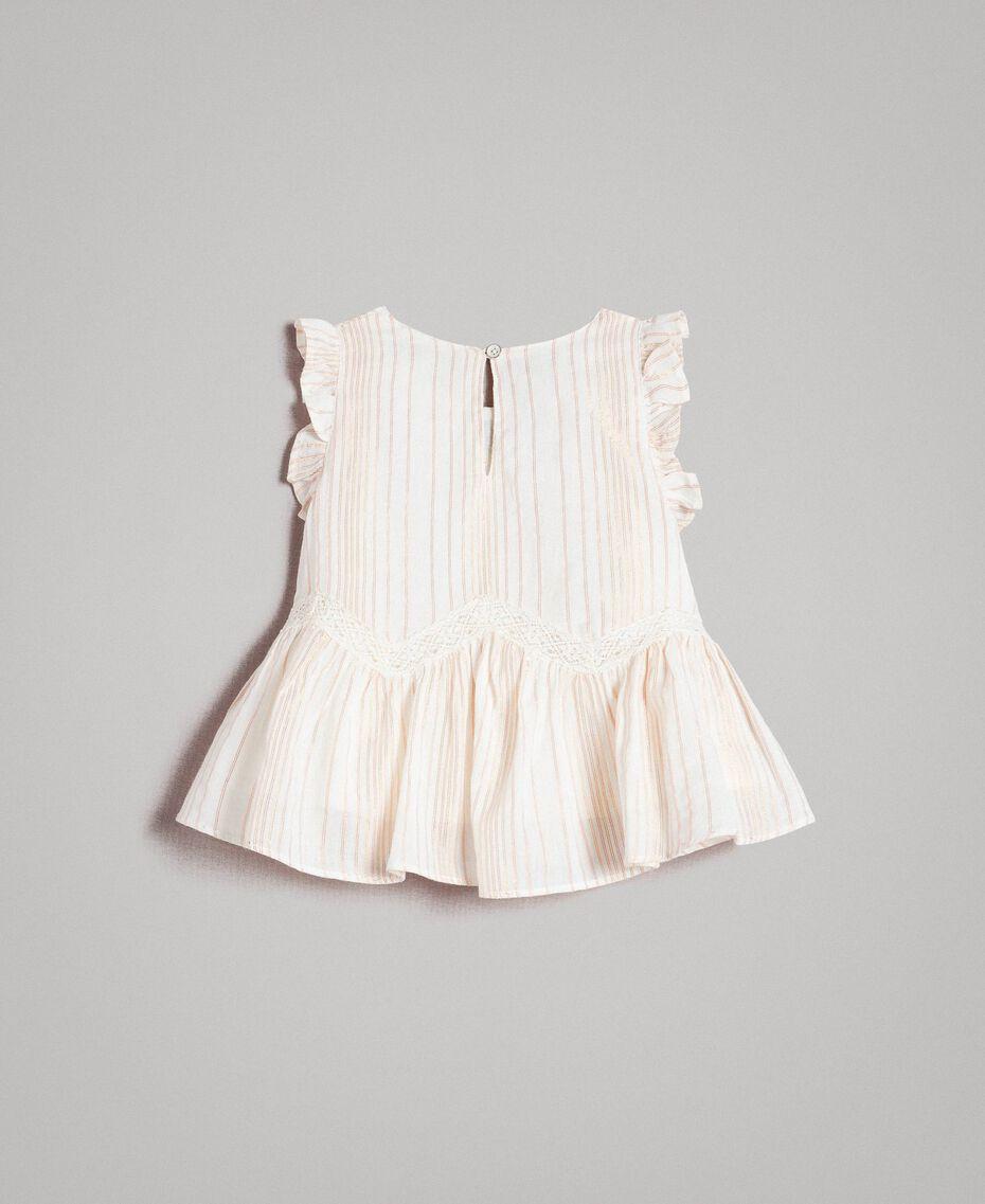 """Top en mousseline à rayures en tricot de lurex Jacquard """"Bâton"""" Enfant 191GB2550-0S"""