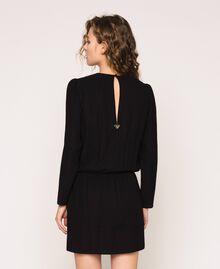 Overlapping crêpe dress Black Woman 201LB25HH-03