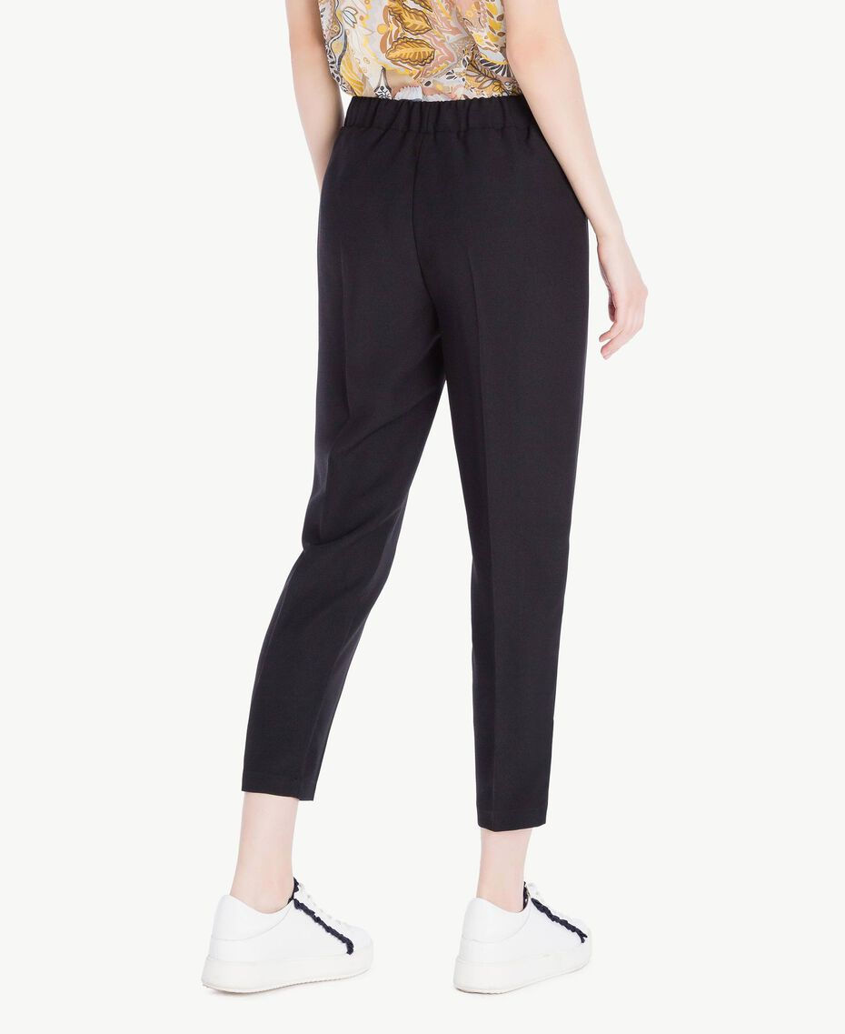 Cady drainpipe trousers Black Woman SS82AE-03