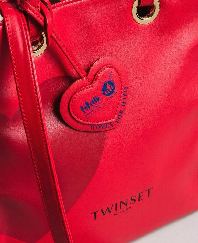 Mon Coeur Tote-Bag aus Lederimitat Rot Frau 191TQ701A-04