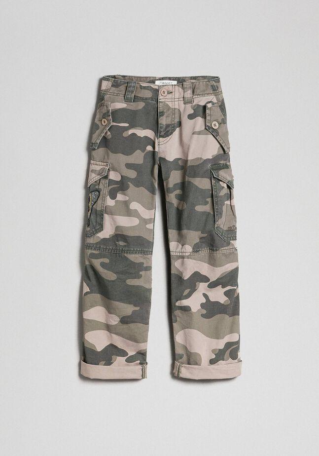 Pantalon cargo avec imprimé camouflage