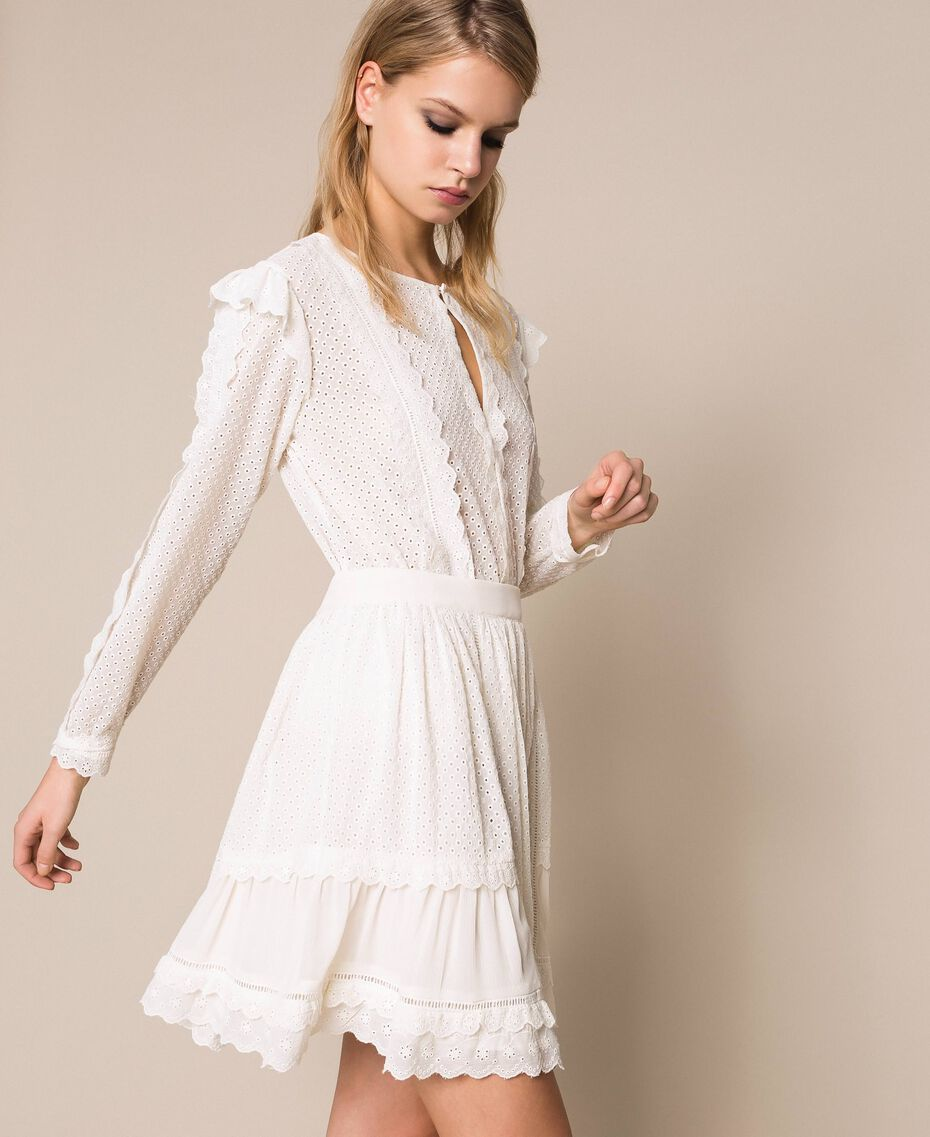 Broderie anglaise full skirt White Snow Woman 201TP2494-02
