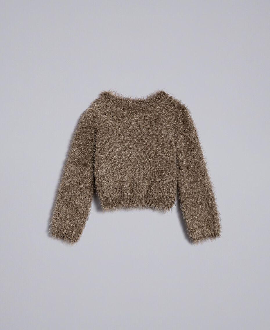 Fur stitch jumper Olive Child FA83D1-0S