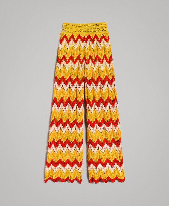 Pantalon en jacquard multicolore