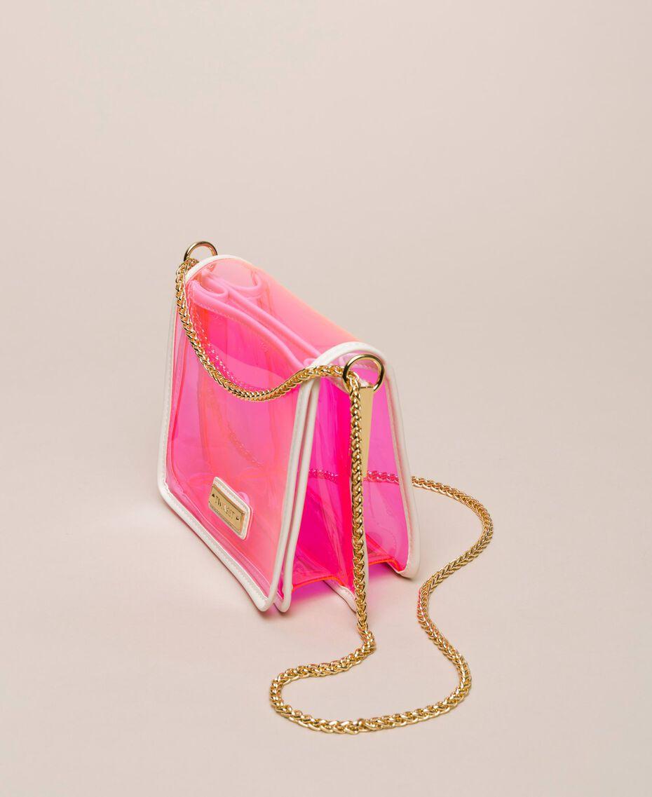 Bea Bag en PVC avec chaîne à bandoulière Fuchsia Fluo Femme 201TO8200-01
