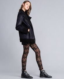 Faux shearling jacket Black / Black Woman JA82G1-03