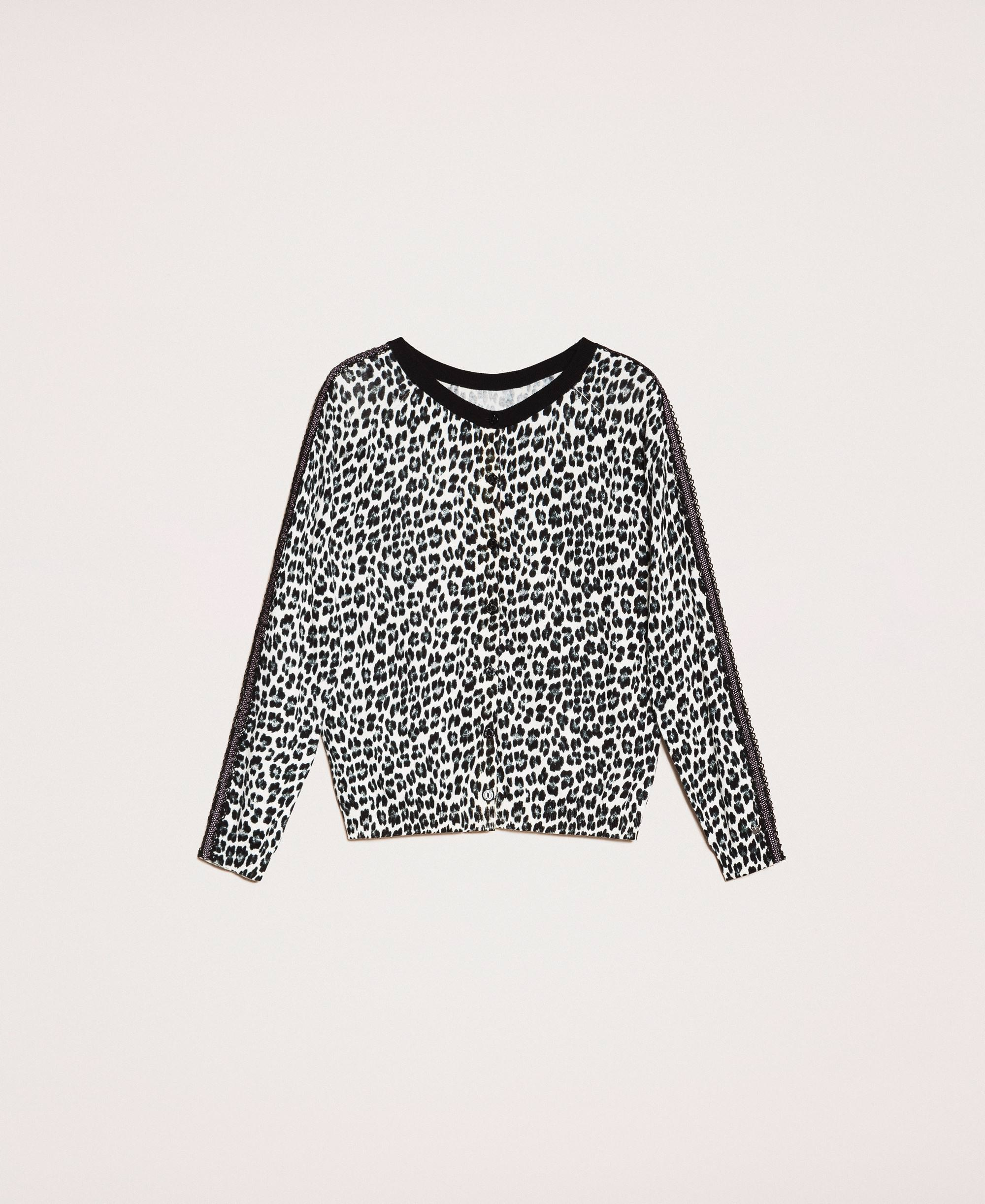 Animal print jumper cardigan Woman, Fantasy | TWINSET Milano