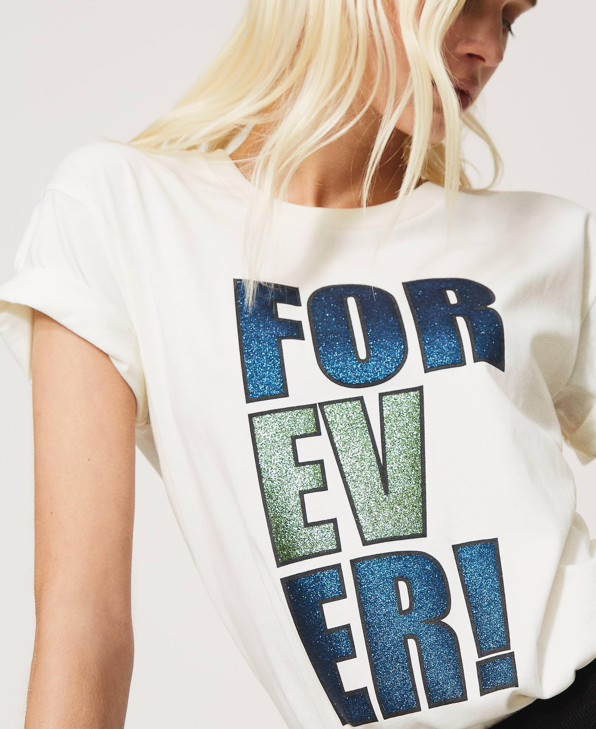 Ladies Glitter Printed T shirt Custom