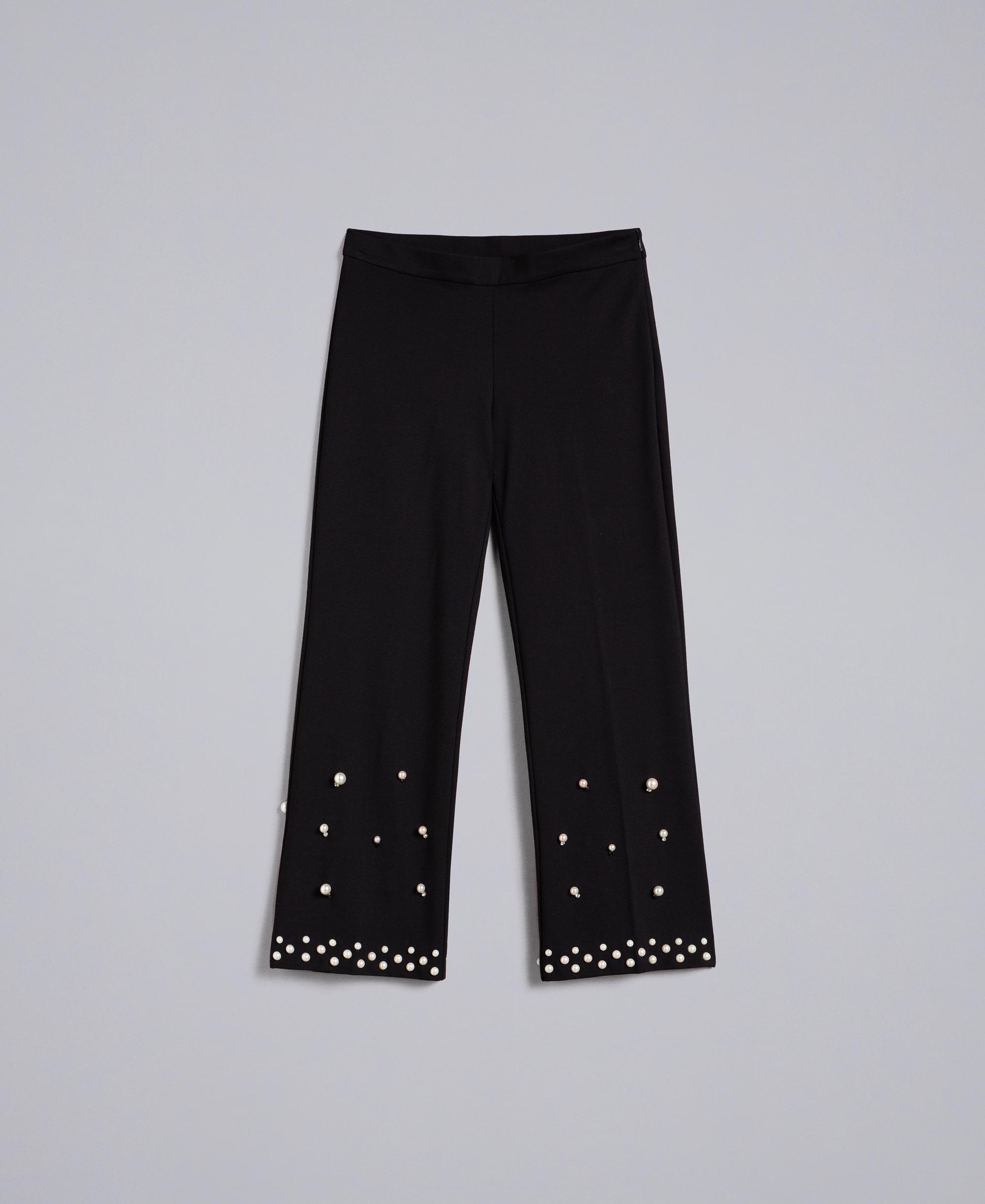 JEANS donna pantaloni di dimensioni Gamba Dritta Nero 46 48