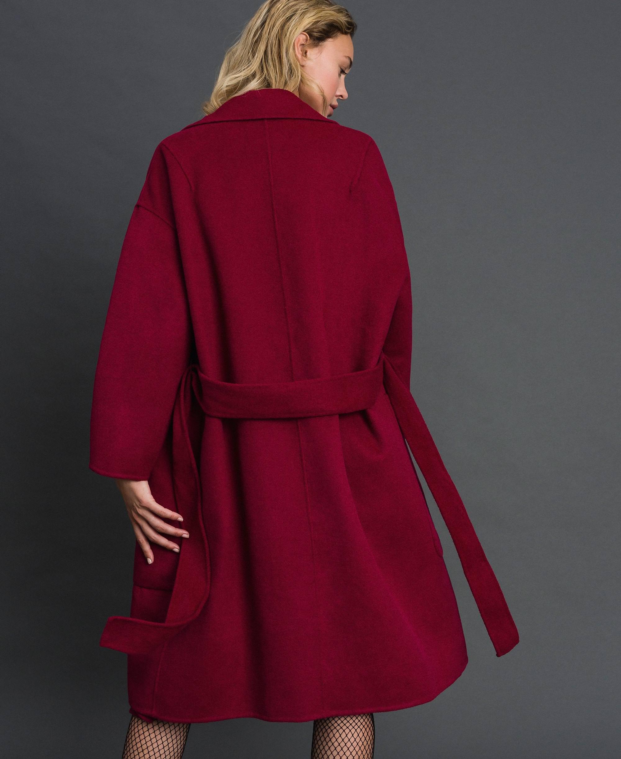 Wool Overs Womens Milano Lapel Collar Long Jacket