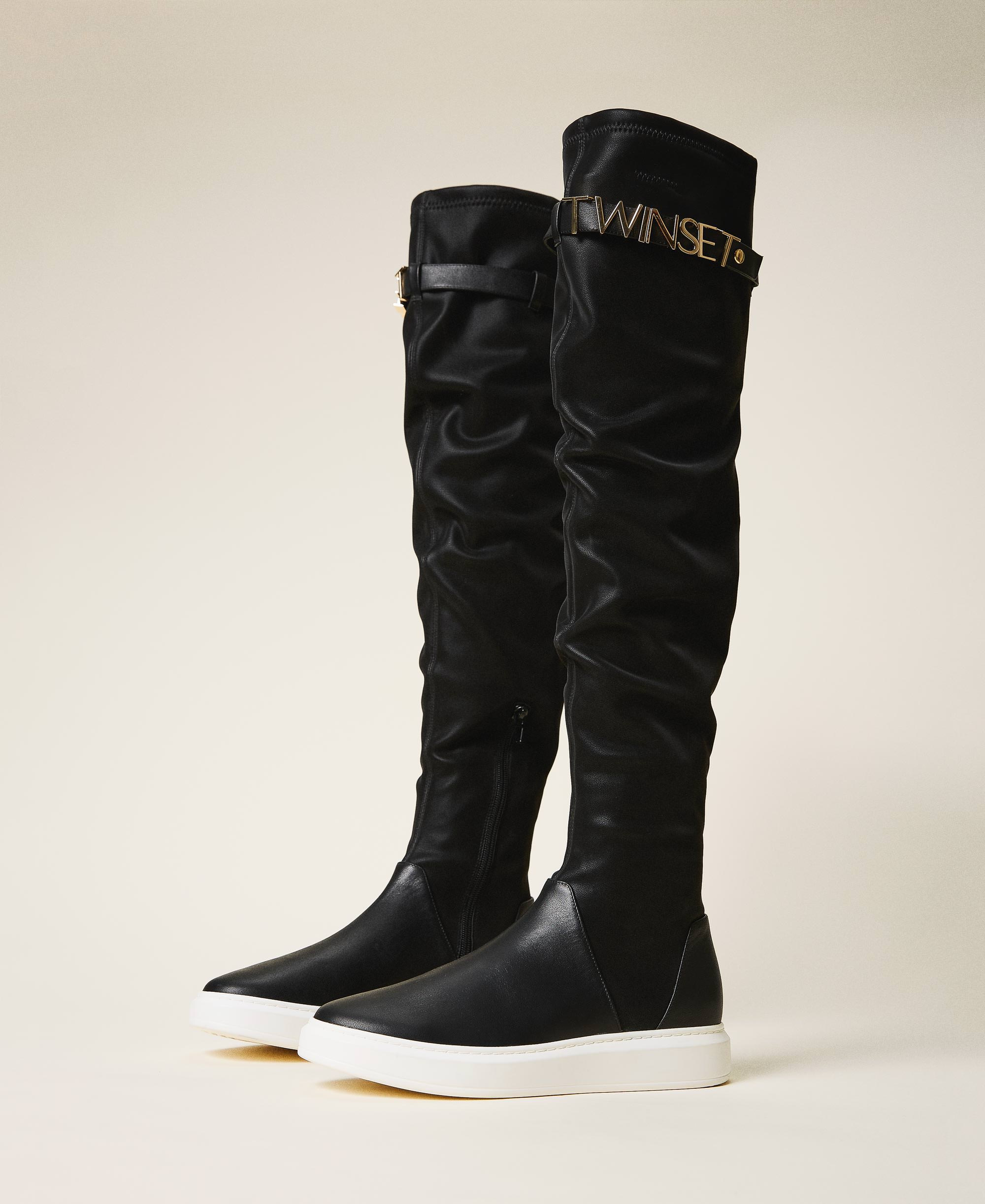 Trainer boots with logo Woman, Black